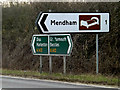 TM2582 : Roadsigns on the A143 Bungay Road by Adrian Cable