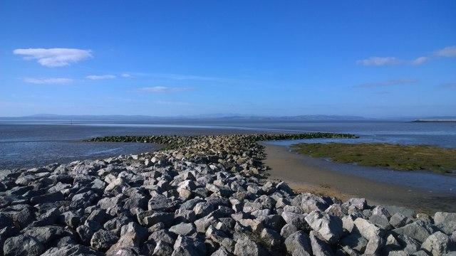Stone sea defences at Sandylands