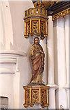 TQ2976 : Christ Church, Union Grove - Statue Sacred Heart by John Salmon