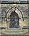 SO9189 : West door, St Mark's Church, Pensnett by Robin Stott
