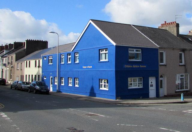Blue corner in Pembroke Dock