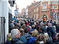 SK5804 : Crowds lining Grey Friars by Mat Fascione