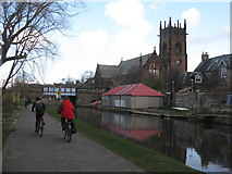 NT2371 : The Union Canal and NCN75 by M J Richardson