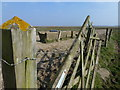 TF3535 : Water tub and gate on Kirton Marsh, Lincolnshire by Richard Humphrey