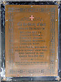 TF8730 : War Memorial in Dunton cum Doughton St Peter's church by Adrian S Pye