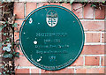 SU0000 : No. 5 (of 12) the Green Plaques of Wimborne - Matthew Prior's birthplace by Mike Searle
