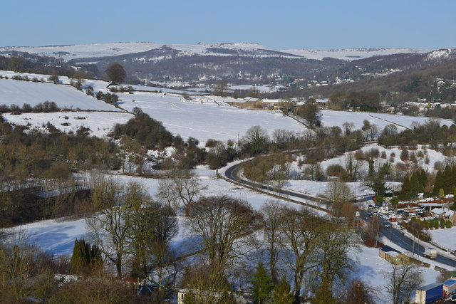 View from Calver Low in Derbyshire