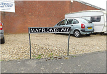 TM2482 : Mayflower Way sign by Adrian Cable