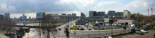 Panoramic view of Stratford regeneration