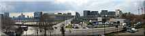 TQ3884 : Panoramic view of Stratford regeneration by Batloaf