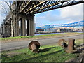 NZ2463 : Riverside Rivets by the King Edward Bridge by Mike Quinn