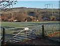 ST9430 : Frosty field near Hindon Lane, Tisbury by Jaggery
