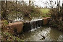 SO7030 : Weir on Herefordshire & Gloucestershire Canal by Philip Halling
