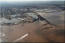 TA2711 : Glorious day At Grimsby Docks: aerial 2015 by Chris