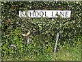TM2583 : School Lane sign by Adrian Cable