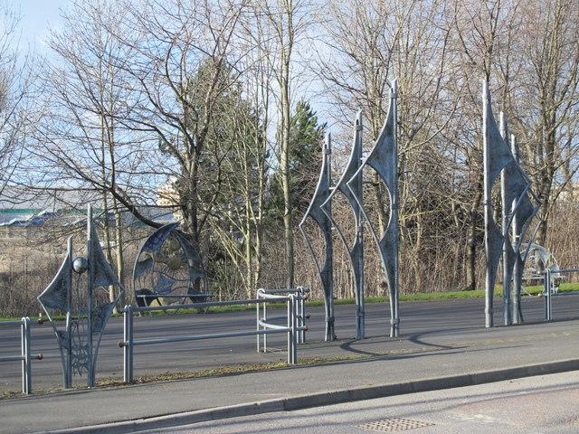 The Rose Street entrance to Gateshead Riverside Park