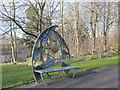 NZ2462 : Ornamental bench at the Rose Street entrance to Gateshead Riverside Park by Mike Quinn
