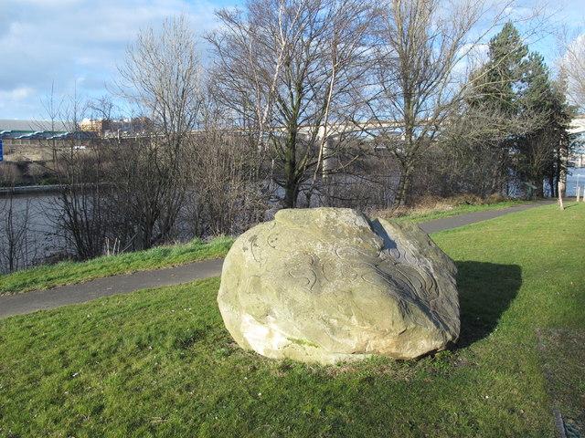 Fishy stone, Gateshead Riverside Park