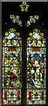TQ5202 : Stained glass window, St Andrew's church, Alfriston by Julian P Guffogg