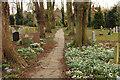 TF0179 : Churchyard path by Richard Croft