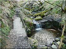 SE0722 : A bridge on Elland FP80 in Maple Dean Clough by Humphrey Bolton
