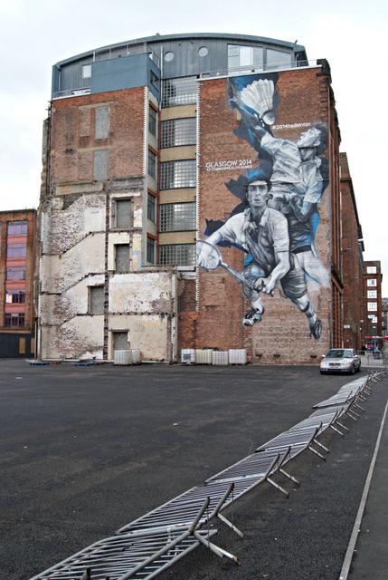 Glasgow Commonwealth Games Badminton Mural