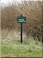 TM2485 : Gawdy Hall Estates Ltd sign by Geographer