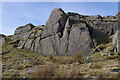 NY3010 : Outcrop on Calf Crag by Ian Taylor