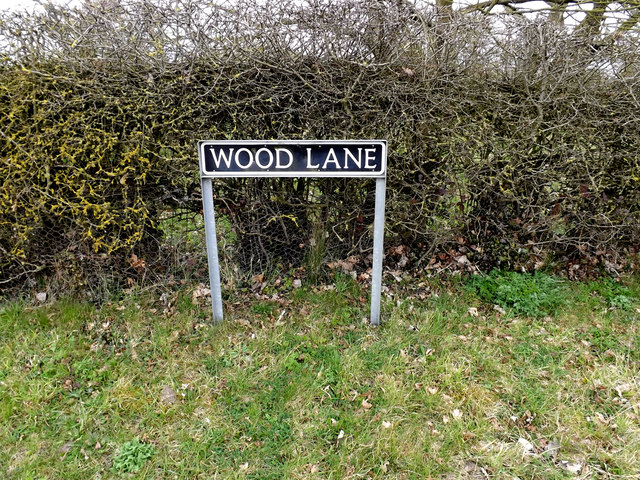 Wood Lane sign
