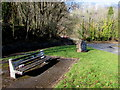 ST1281 : Bench and Millennium Stone, Morganstown, Cardiff by Jaggery