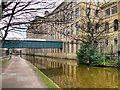 SE1338 : Leeds and Liverpool Canal, Salts Mill by David Dixon