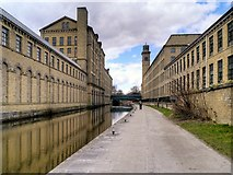 SE1438 : Leeds and Liverpool Canal, Saltaire Mills by David Dixon