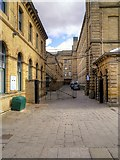 SE1338 : Entrance to Salts Mill Yard by David Dixon