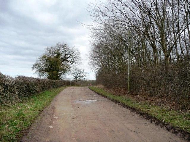 69 metre spot height on Parlington Lane