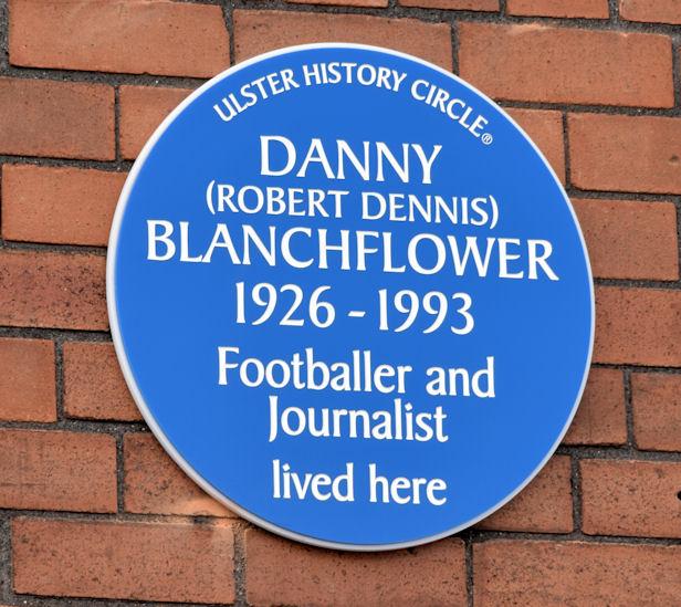 Danny Blanchflower plaque, Belfast (March 2015)