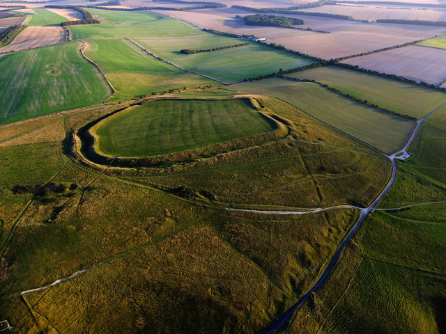 Aerial view of Uffington Castle