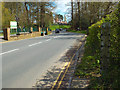 SP2872 : Flood gauge marker at the Ford, Castle Road by Robin Stott