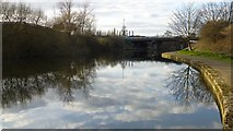 SK5537 : Clouds reflected in the Beeston Canal by David Lally