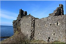 NS2515 : Dunure Castle by Leslie Barrie