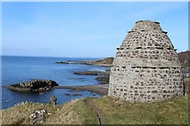 NS2515 : Dunure Castle Doocot by Leslie Barrie