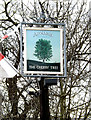 TM2482 : The Cherry Tree Public House sign by Adrian Cable