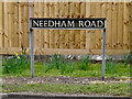 TM2482 : Needham Road sign by Adrian Cable