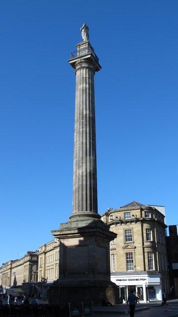 The Earl Grey Monument viewed from Blackett Street, NE1