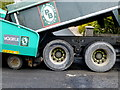 H4672 : Lorry docked with tarmac spreader, Omagh by Kenneth  Allen