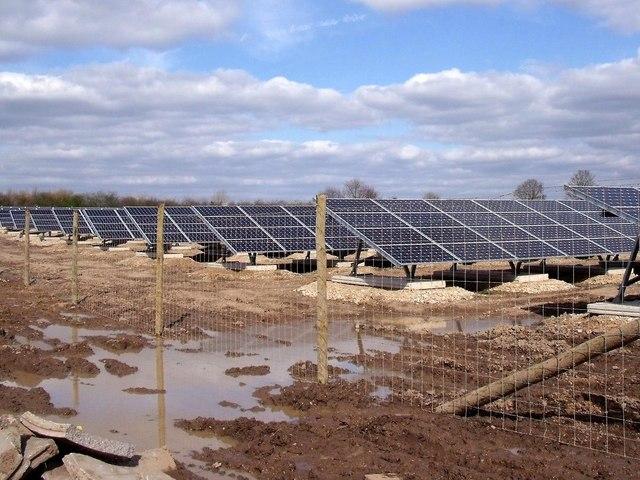 Sudbury Solar Farm under construction