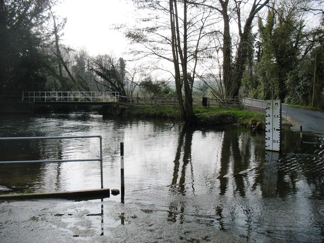 The ford across the River Tas, on Mill Lane