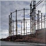 SJ8198 : Salford Gasworks - View along West Egerton Street by David Dixon