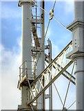 SJ8198 : Gasometer Detail, Liverpool Street Gasworks by David Dixon