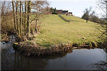 SO6629 : Kempley Brook and Hill Brook Farm by Philip Halling