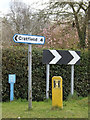 TM2773 : Roadsigns on the B1117 Laxfield Road by Adrian Cable